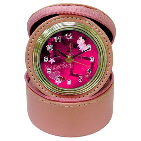 Memories Jewelry Case Travel Clock By Ellan   Jewelry Case Clock   Trno4vbpjwze   Www Artscow Com Front