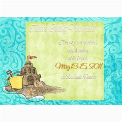 Weekend Getaway Shower Invite By Wendy   5  X 7  Photo Cards   Orc00okyjkd4   Www Artscow Com 7 x5 Photo Card - 2