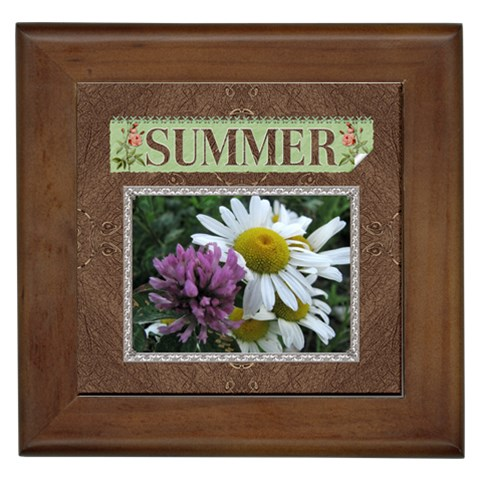 Summer Framed Tile By Lil    Framed Tile   2nvnvsd92nuh   Www Artscow Com Front