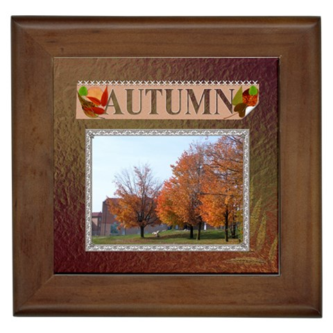 Autumn Framed Tile By Lil    Framed Tile   Nwc43ch6cus3   Www Artscow Com Front