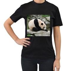 Giant Panda Women s Black T Shirt