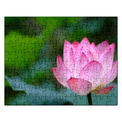 Red Pink Flower Jigsaw Puzzle (rectangular) by ironman2222