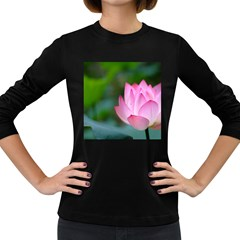 Red Pink Flower Women s Long Sleeve Dark T Shirt by ironman2222