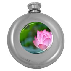 Red Pink Flower Hip Flask (5 Oz) by ironman2222