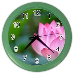 Red Pink Flower Color Wall Clock by ironman2222
