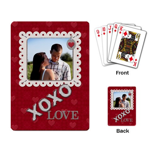 Xoxo Playing Cards By Lil    Playing Cards Single Design   M81v4denbqdl   Www Artscow Com Back