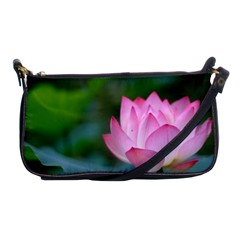 Pink Flowers Shoulder Clutch Bag by ironman2222