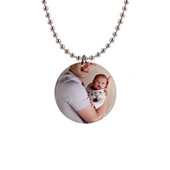 Father And Son Hug 1  Button Necklace