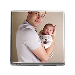 Father And Son Hug Memory Card Reader With Storage (square) by ironman2222