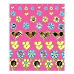 Hearts and Flowers Medium Shower Curtain - Shower Curtain 60  x 72  (Medium)