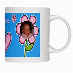 Flowers And Hearts Mug By Deborah   White Mug   N8zbjbdp3mms   Www Artscow Com Right