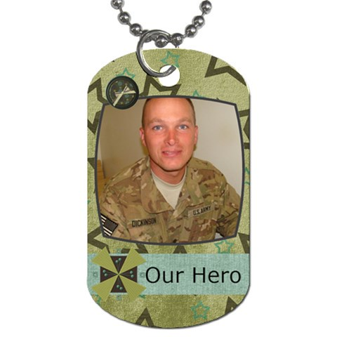 Our Hero Dog Tags By Tami   Dog Tag (one Side)   Yth7uipc7gbq   Www Artscow Com Front