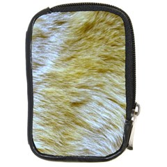 Lion Skin Compact Camera Leather Case by photogiftanimaldesigns