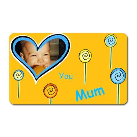Love You Mum Magnet By Deborah   Magnet (rectangular)   Ucpoj8a9e2hq   Www Artscow Com Front