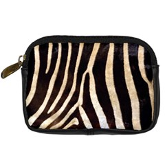 Zebra Skin Digital Camera Leather Case by photogiftanimaldesigns