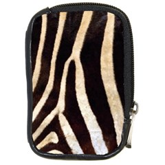 Zebra Skin Compact Camera Leather Case by photogiftanimaldesigns