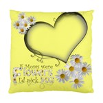 Daisy Heart Mothers Day Cushion - Cushion Case (Two Sides)