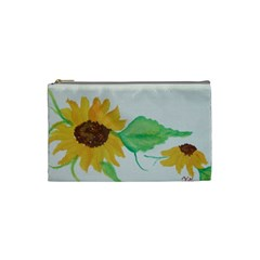 Sunflowers By Trine   Cosmetic Bag (small)   4o8o16wdz8gz   Www Artscow Com Front