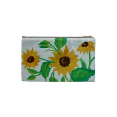 Sunflowers By Trine   Cosmetic Bag (small)   4o8o16wdz8gz   Www Artscow Com Back