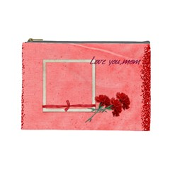 Love You,mom By Elena Petrova   Cosmetic Bag (large)   Evx5ibyv3y89   Www Artscow Com Front