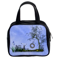 Blue Fun By Kim White   Classic Handbag (two Sides)   7aubjxb2tzi8   Www Artscow Com Front
