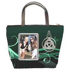 Green Celtic Bucket Bag by Lil Back