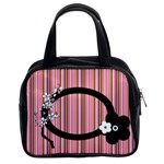pink stripes - Classic Handbag (Two Sides)