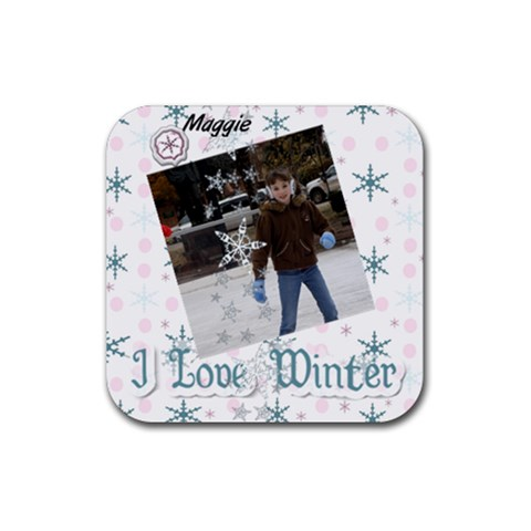 Maggie Coast Winter 2010 By Rhonda Crawford   Rubber Coaster (square)   Jks2x70dj2u2   Www Artscow Com Front