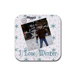 Maggie coast winter 2010 - Rubber Coaster (Square)