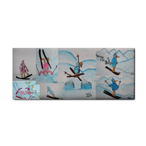 Sports Towel Pink And Blue Bird By Trine   Hand Towel   C17d504qjvep   Www Artscow Com Front