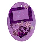 Lavander Heart purple oval ornament - Ornament (Oval)