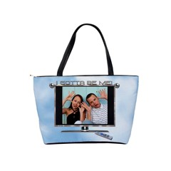 Express Yourself Classic Shoulder Handbag By Lil    Classic Shoulder Handbag   Bcnlzbow7sm0   Www Artscow Com Back