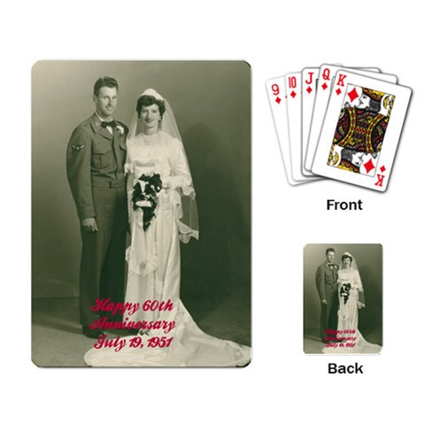 Mom And Dad By Pam   Playing Cards Single Design   2gucers86ow3   Www Artscow Com Back
