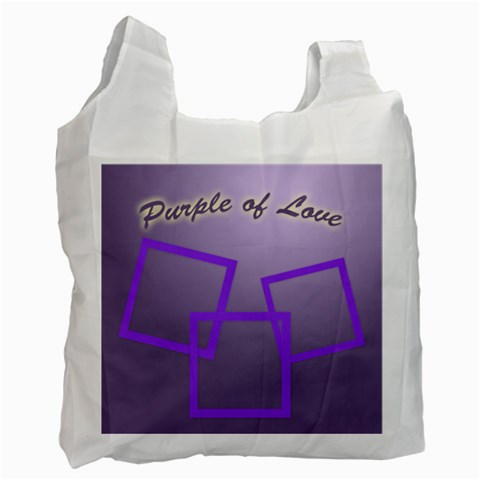 Purple Of Love By Clince   Recycle Bag (one Side)   5oofu5srklb7   Www Artscow Com Front