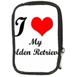 I Love My Golden Retriever Compact Camera Leather Case Front