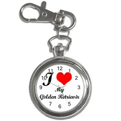 I Love Golden Retriever Key Chain Watch by mydogbreeds
