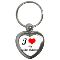 I Love Golden Retriever Key Chain (Heart) by mydogbreeds
