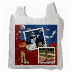 Baseball Recycle Bag By Snackpackgu   Recycle Bag (two Side)   8mbp6d76sry9   Www Artscow Com Back