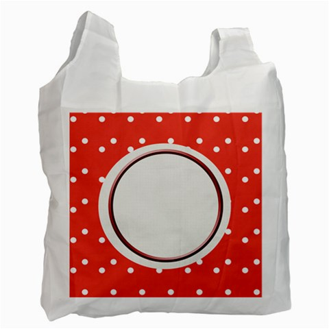 Dots Recycle Bag By Daniela   Recycle Bag (one Side)   Pdy5xczs2gxr   Www Artscow Com Front