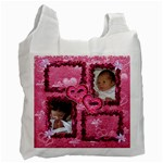 Pink Frilly frame recycle bag - Recycle Bag (One Side)