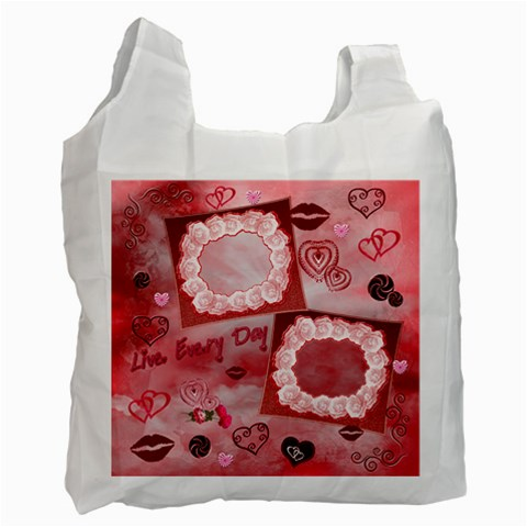 Live Every Day Kisses Recycle Bag By Ellan   Recycle Bag (one Side)   Xfsfu1geuw27   Www Artscow Com Front
