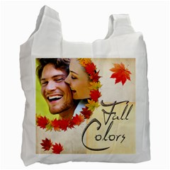 Fall Colours Double Sided Recycle Bag By Catvinnat   Recycle Bag (two Side)   X0g3vgdyx9nu   Www Artscow Com Front