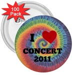 concert - 3  Button (100 pack)