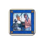 tigris-blu - Rubber Coaster (Square)