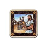 tigris-blk - Rubber Coaster (Square)