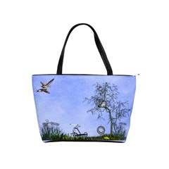Blue Fun In Classic Shoulder  By Kim White   Classic Shoulder Handbag   Ka7am56r355h   Www Artscow Com Front