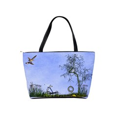 Blue Fun In Classic Shoulder  By Kim White   Classic Shoulder Handbag   Ka7am56r355h   Www Artscow Com Back