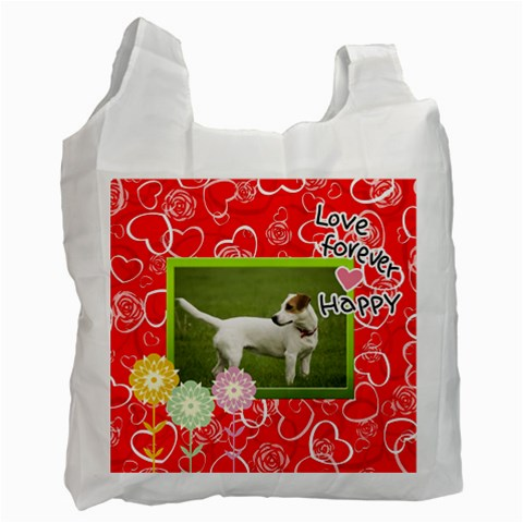 Pet Dog By Wood Johnson   Recycle Bag (one Side)   8wz4ca8ifqce   Www Artscow Com Front