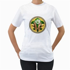 Pauls Shirt By Roxane Villanueva   Women s T Shirt (white) (two Sided)   Mz5jsb4qqg35   Www Artscow Com Front