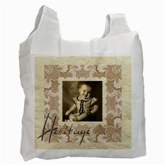 Heritage Generations Damask Recycle Bag Double Sided By Catvinnat   Recycle Bag (two Side)   6sn55icolopk   Www Artscow Com Front